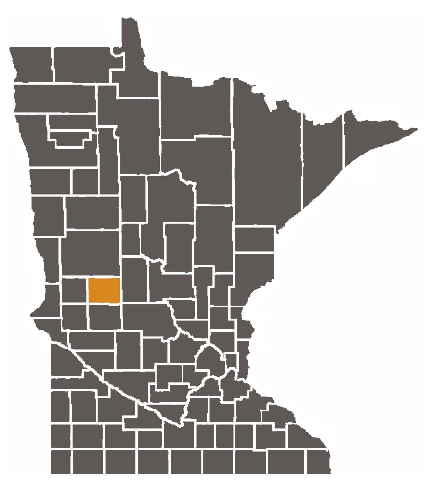 Minnesota map with Douglas County highlighted.