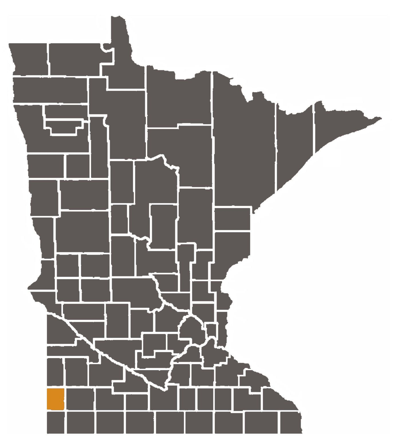 Minnesota map with Pipestone County highlighted.